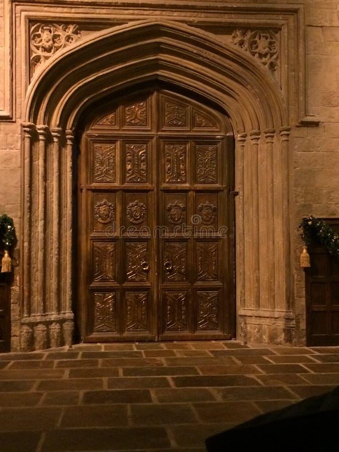 Hogwartsdeur royalty-vrije stock foto's