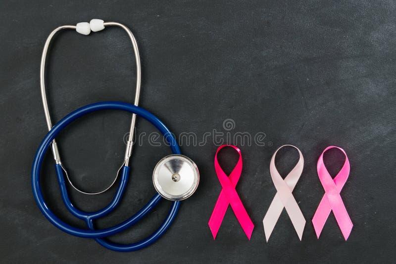 Hohe Ansicht des Brustkrebs-Gesundheitswesenkonzeptes stockfotos