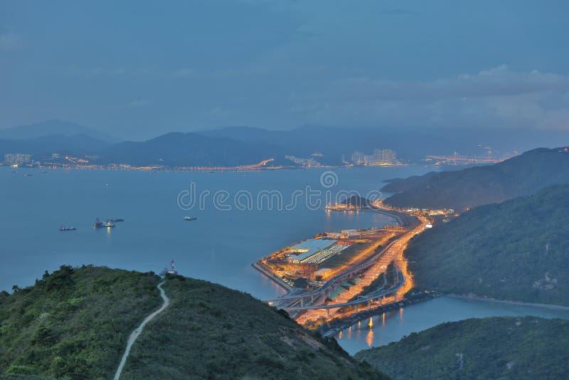 hohe Ansicht von Siu Ho Wan Depot lizenzfreie stockbilder