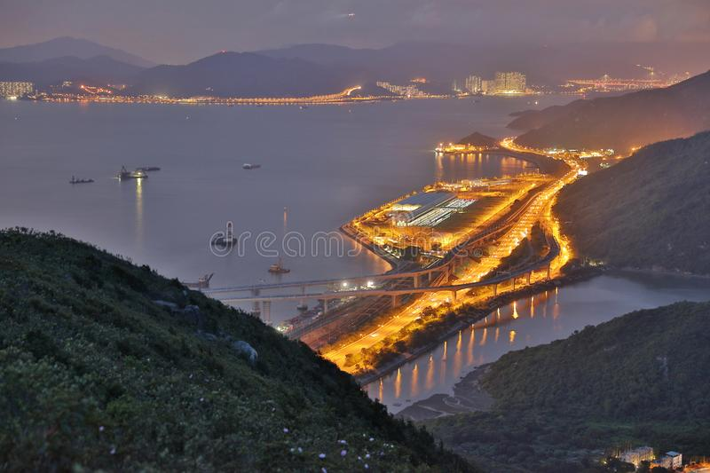 hohe Ansicht von Siu Ho Wan Depot stockfoto