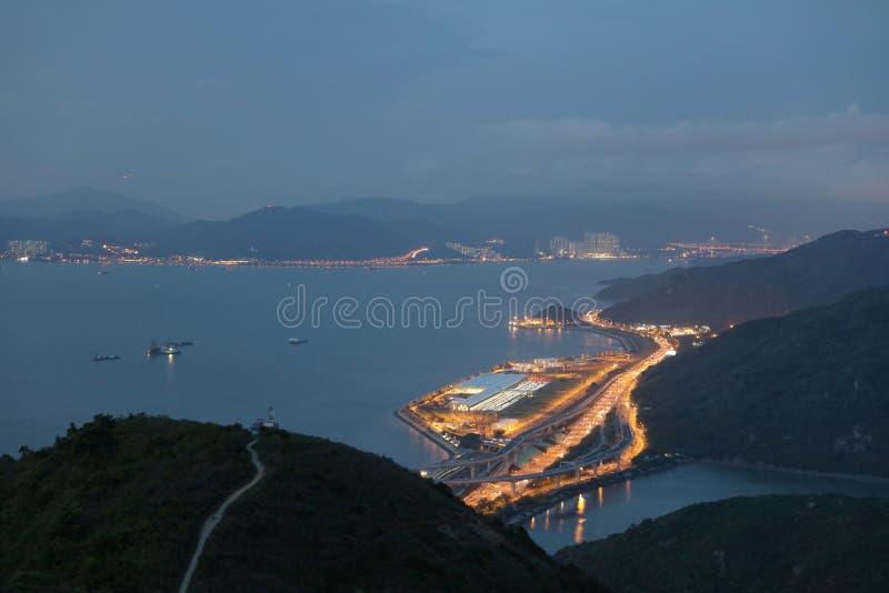 hohe Ansicht von Siu Ho Wan Depot stockfotos