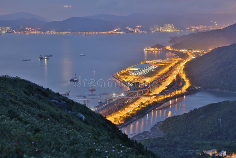 hohe Ansicht von Siu Ho Wan Depot lizenzfreies stockfoto