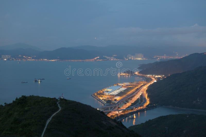 hohe Ansicht von Siu Ho Wan Depot lizenzfreies stockbild