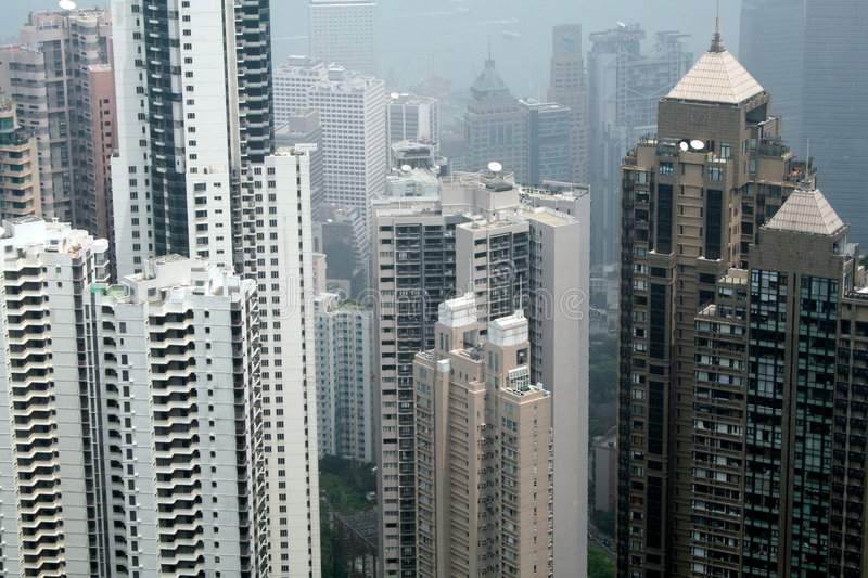 Hohe Anstiege in Hong Kong stockfoto