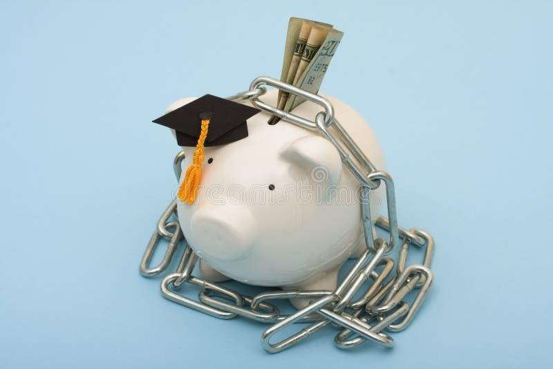 Hohe Ausbildungskosten stockfoto