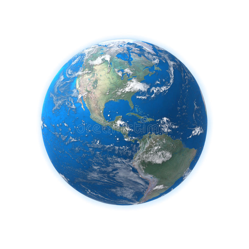 Hohe ausführliche Erdekarte, Amerika stockbild