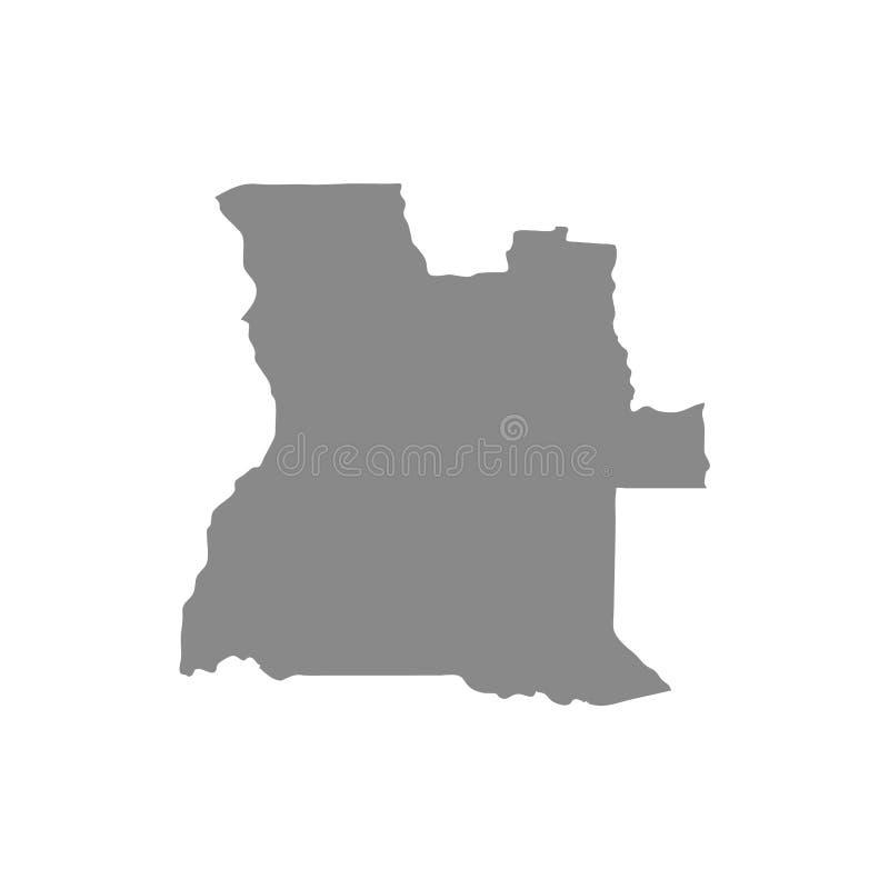 Hohe ausführliche Vektorkarte - Angola-Vektor lizenzfreie abbildung