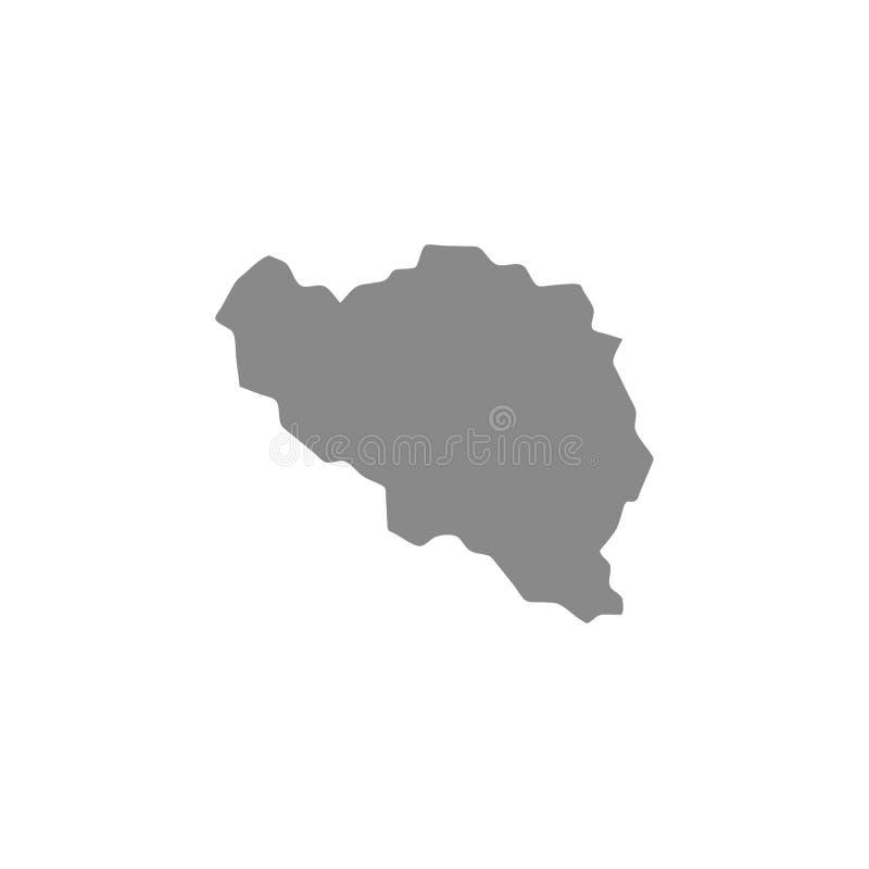 Hohe ausführliche Vektorkarte - Belgien-Vektor lizenzfreie abbildung