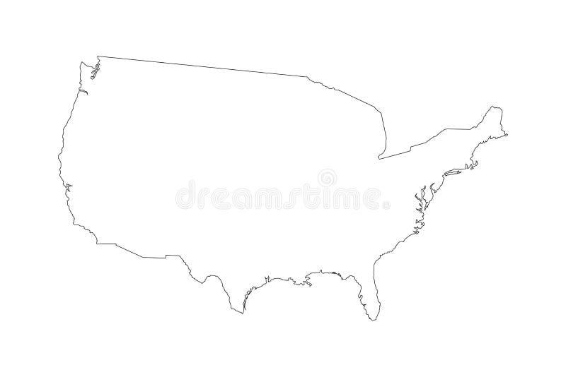 Hohe ausführliche Vektorkarte - Vereinigte Staaten stock abbildung