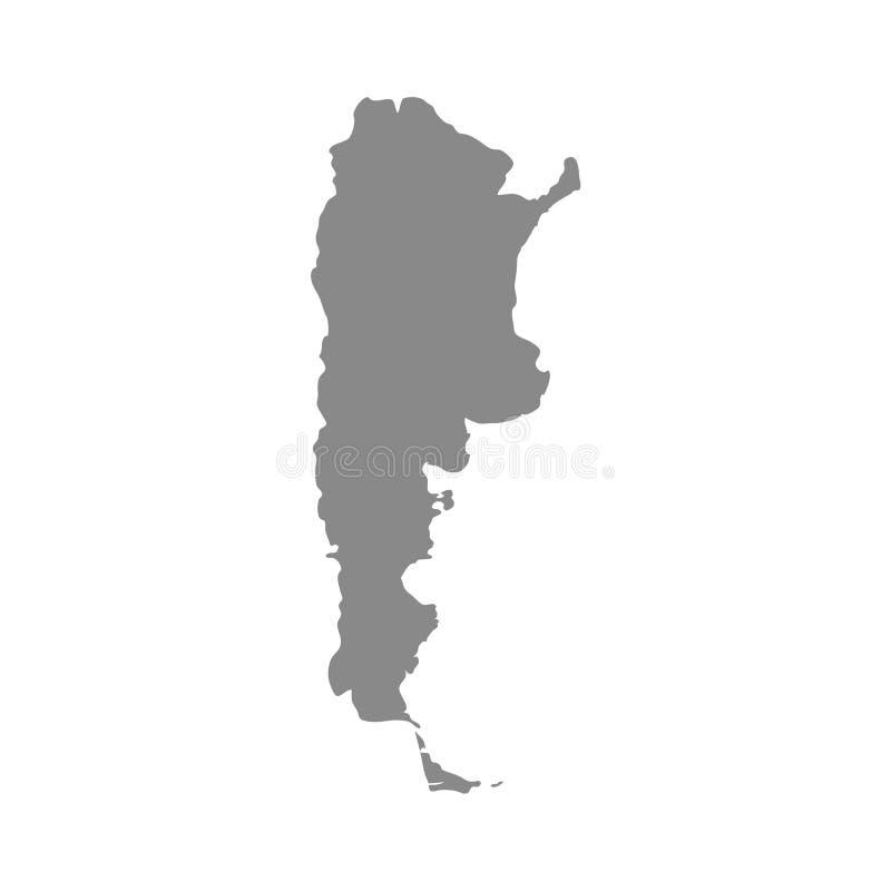 Hohe ausf?hrliche Vektorkarte - Argentinien lizenzfreie abbildung