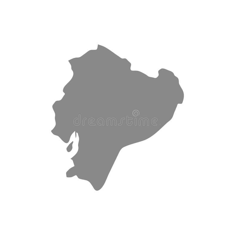 Hohe ausf?hrliche Vektorkarte - Ecuador lizenzfreie abbildung