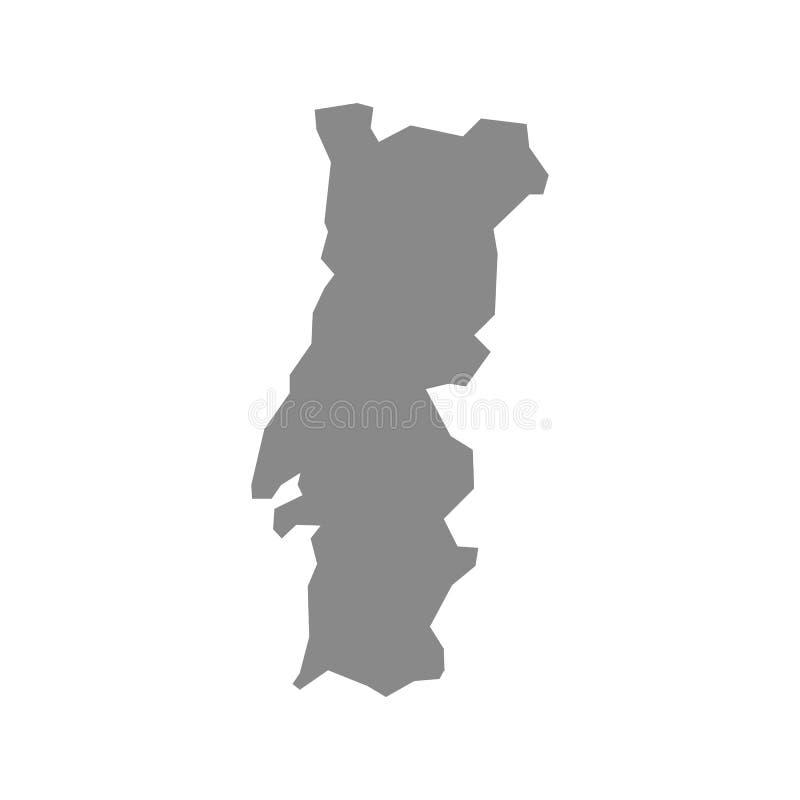 Hohe ausf?hrliche Vektorkarte - Portugal vektor abbildung