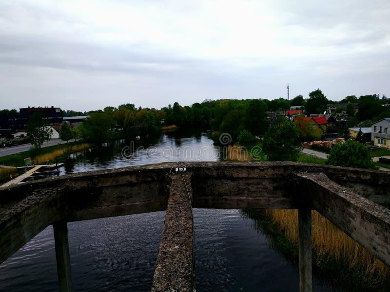 Hohe Brücke stockfoto