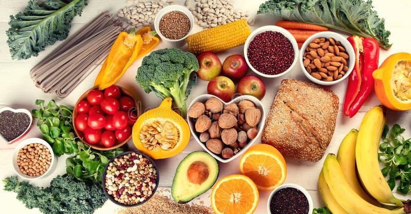 Hohe Fasernahrungsmittel stockfotografie