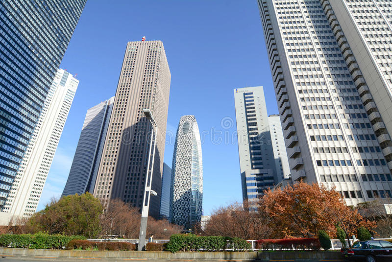 Hohe Gebäude in Shinjuku, Tokyo, Japan stockfotografie