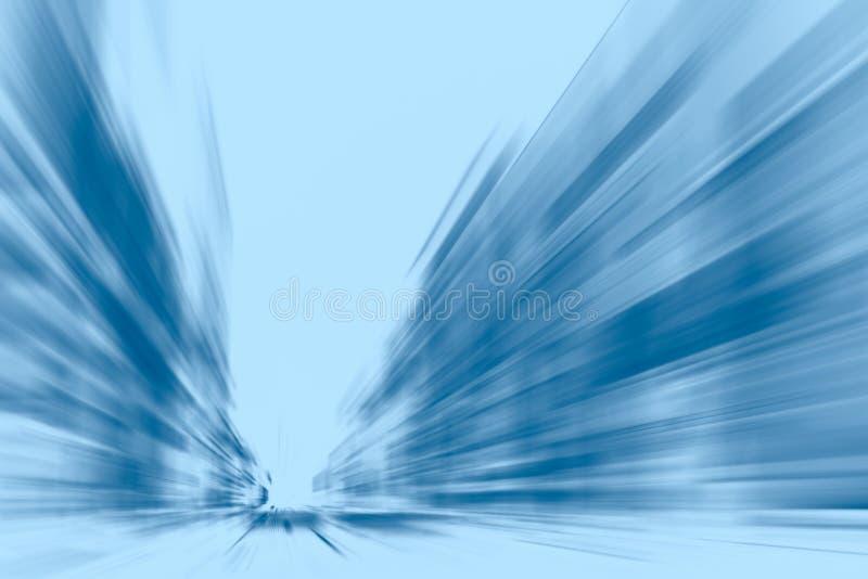 Hohe Geschwindigkeit führen Bewegungs-Blauton des Geschäfts beweglichen durch stockbilder