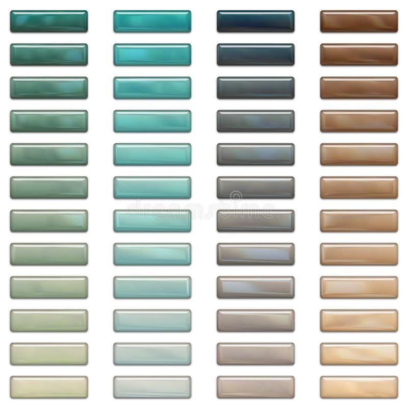 Hohe Glanzweb-Tasten in den stilvollen Farben lizenzfreie abbildung