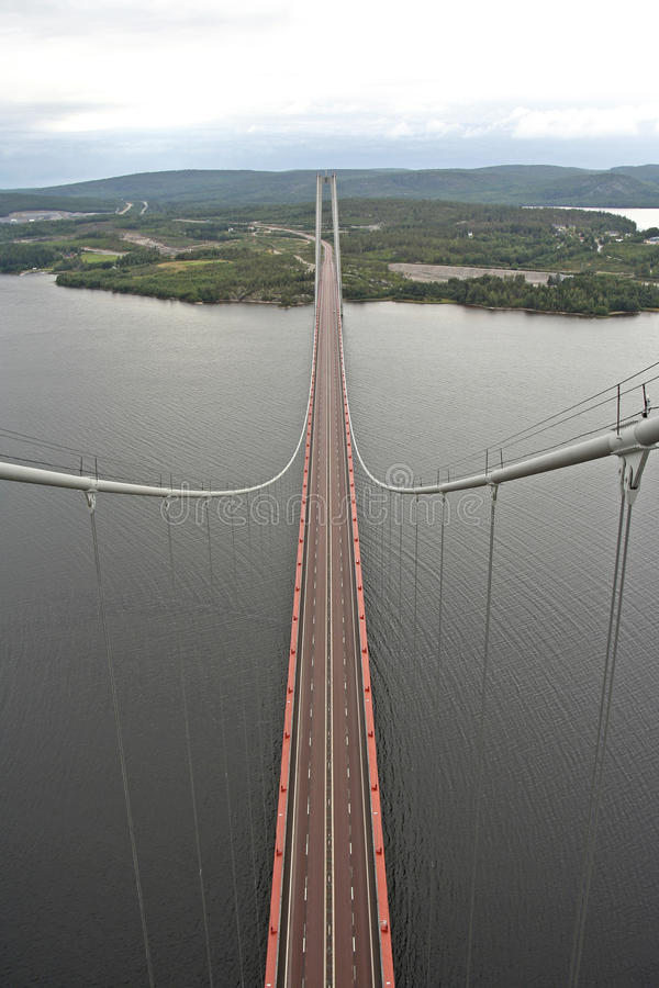 Hohe Küsten-Brücke stockfotografie
