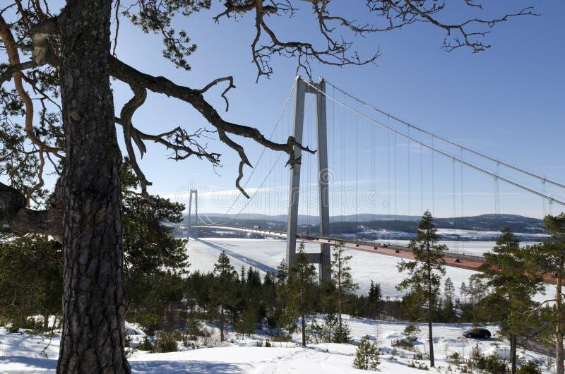 Hohe Küsten-Brücke lizenzfreie stockfotografie