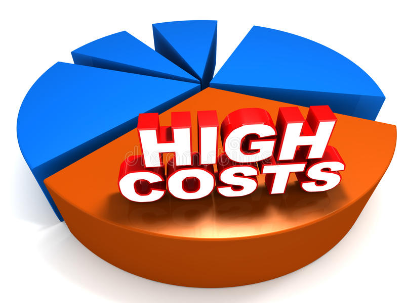 Hohe Kosten lizenzfreie abbildung