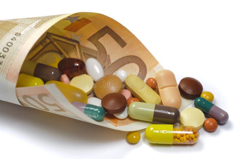 Hohe Kosten für Medizin lizenzfreie stockfotografie