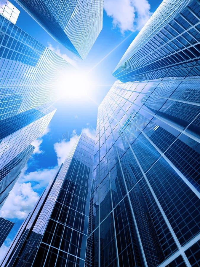 Hohe moderne Gebäude lizenzfreie abbildung