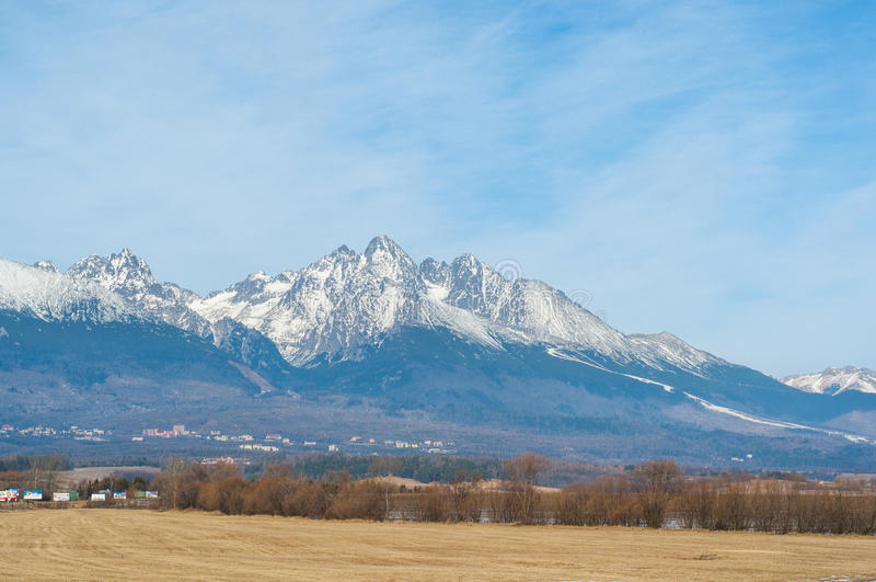 Hohe Tatras-Berge im Herbst lizenzfreie stockbilder