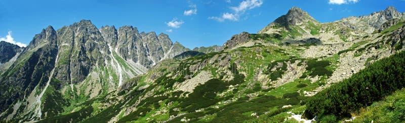 Hohe Tatras panoramische Abbildung stockfotos