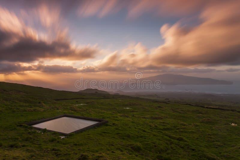 Hohe Weiden Azoren stockbilder