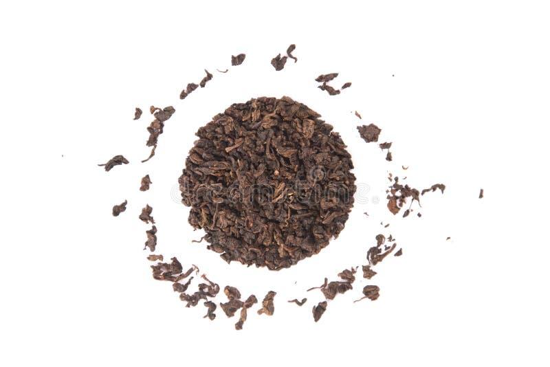 Hohe Winkelsicht von gebratenem Tieguanyin, Vielzahl von Oolong-Tee lizenzfreies stockfoto