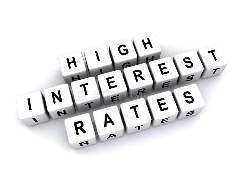 Hohe Zinssätze lizenzfreie abbildung