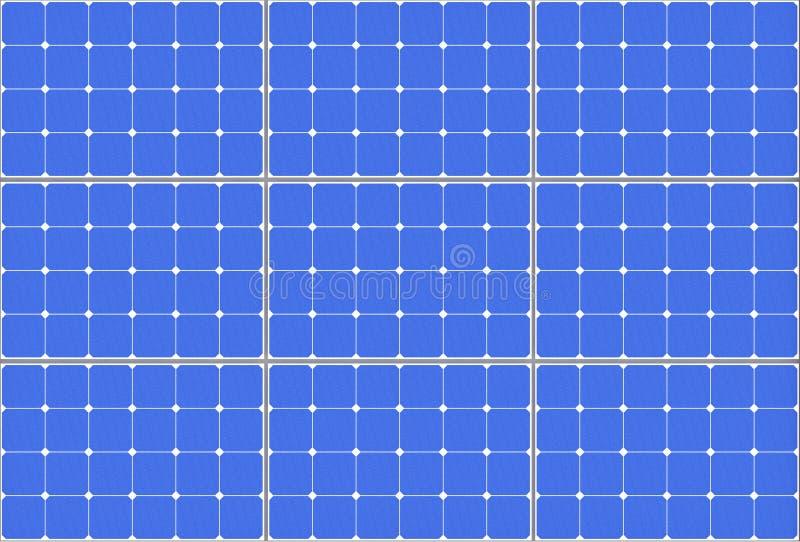 In hohem Grade ausführliche Solarzellen-Muster-Platte Wiedergabe 3d vektor abbildung