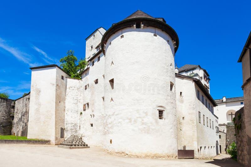 Hohensalzburg城堡在萨尔茨堡 库存照片