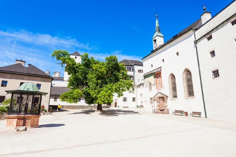 Hohensalzburg城堡在萨尔茨堡 免版税库存照片