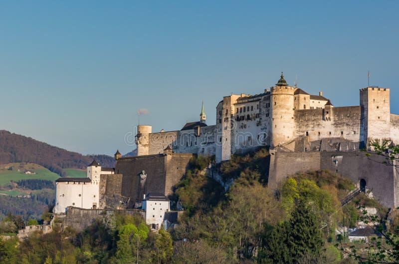 Hohensalzburg Castle on Hill, Salzburg Austria royalty free stock images