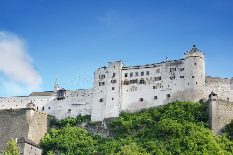 Hohensalzburg Castle from Salzburg, Austria royalty free stock photos
