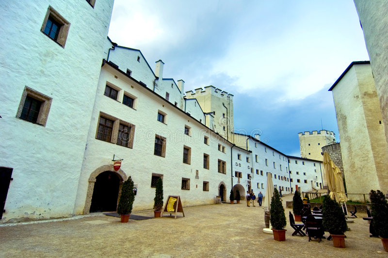 hohensalzburg do zamku zdjęcie royalty free