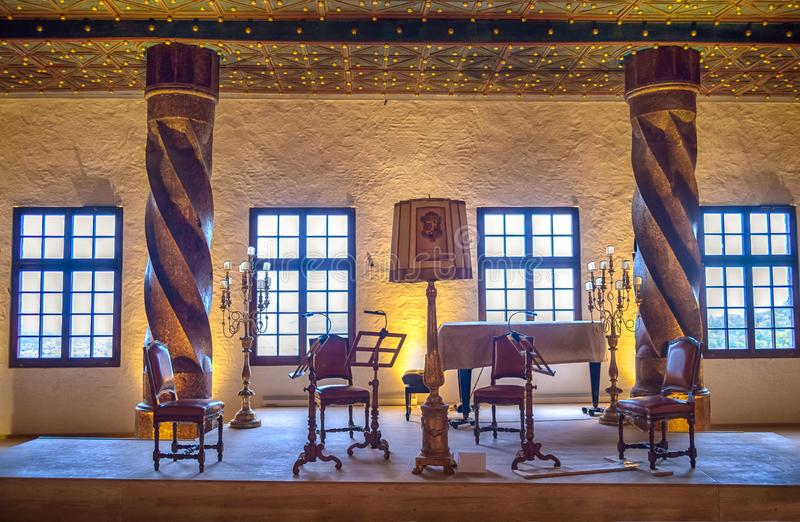 Hohensalzburg Castle interior, Salzburg, Austria. Hohensalzburg Fortress is the biggest fully preserved castle in Central Europe royalty free stock photography