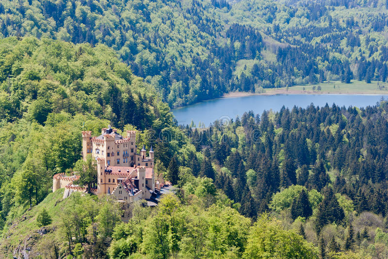 Download Hohenschwangau castle stock photo. Image of steeple, view - 23662132