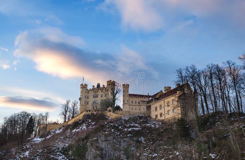 Hohenschwangau castle in Bavaria, winter. royalty free stock photo