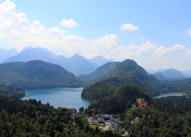 Schloss Hohenschwangau in Southern Bavaria, Germany royalty free stock image