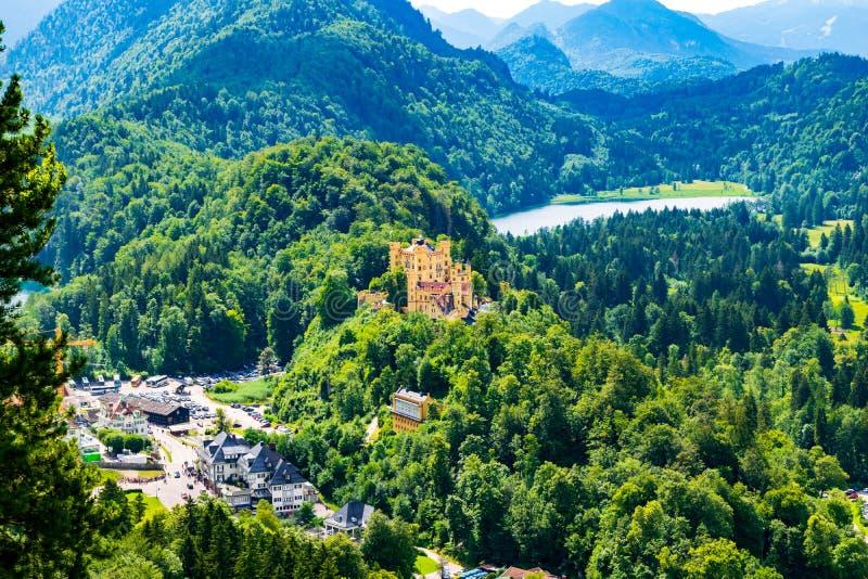 Hohenschwangau-Schloss in Hohenschwangau stockbilder