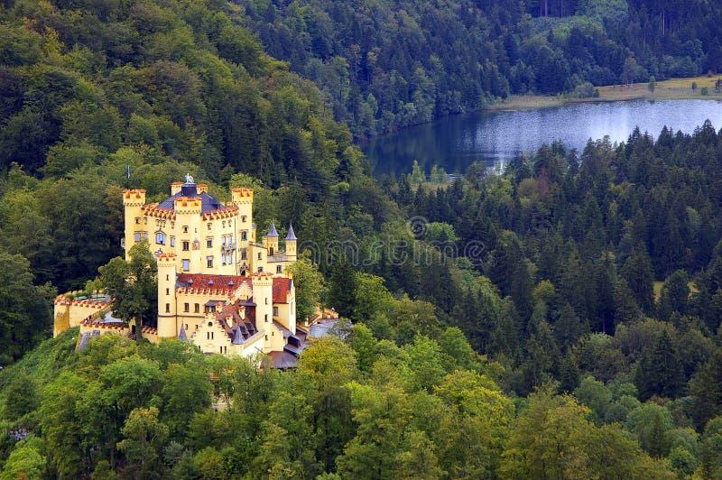 Hohenschwangau Schloss (Bayern, Deutschland) stockbilder