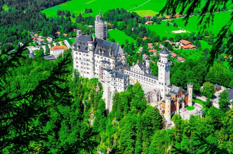Hohenschwangau-Schloss in den bayerischen Alpen, Deutschland stockfotos