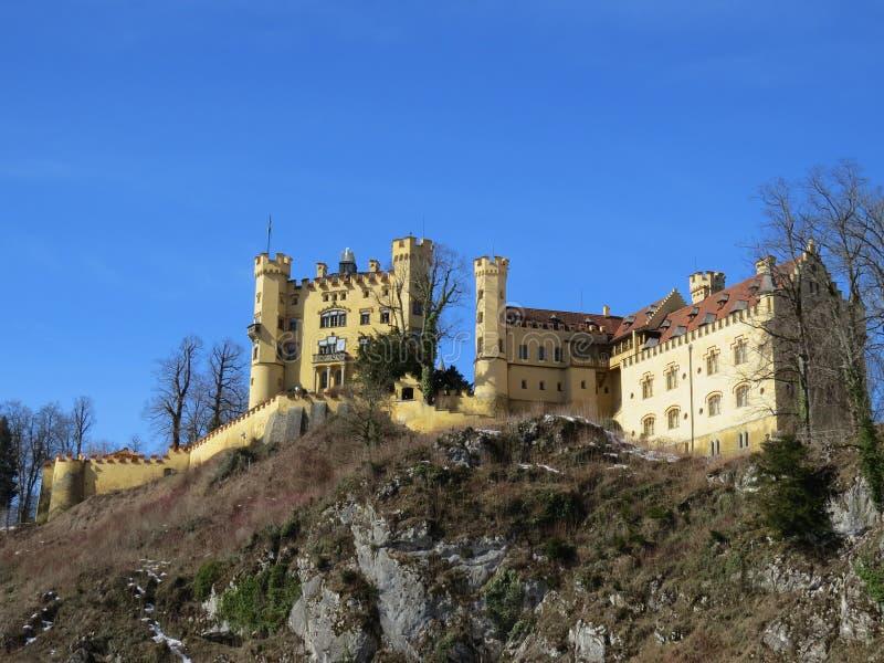 Hohenschwangau slott, Bayern arkivfoto