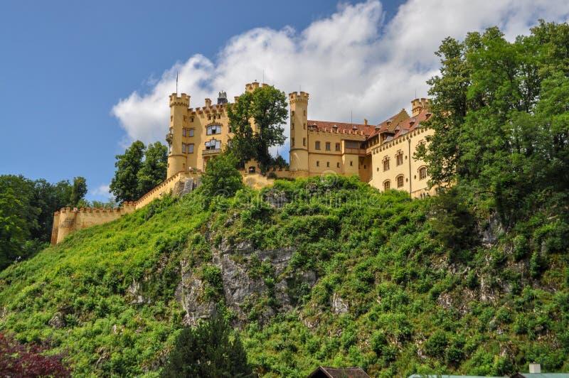 Hohenschwangaukasteel in Beieren Duitsland stock fotografie