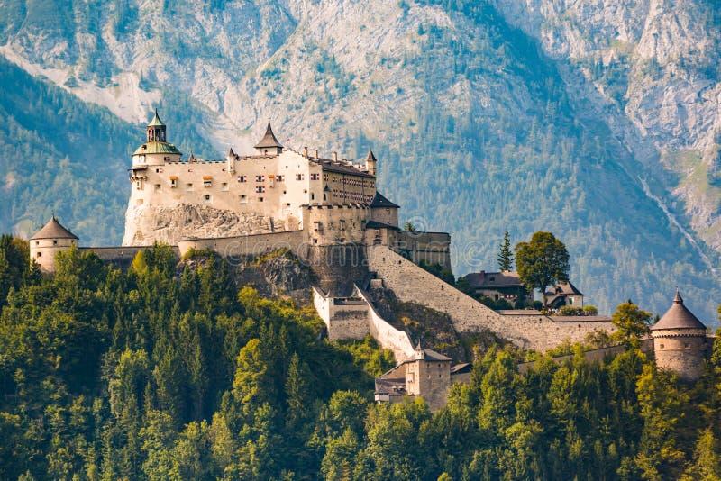 Hohenwerfen城堡和堡垒, Werfen,奥地利 库存照片