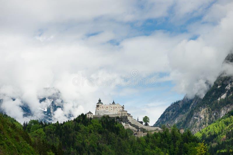 Hohenwerfen fortress, Austria stock photography
