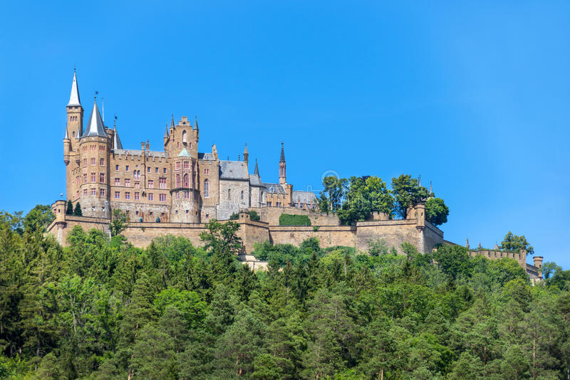 hohenzollern的城堡 库存照片
