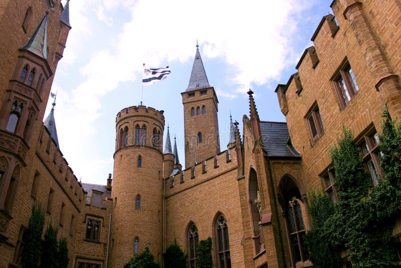 Hohenzollern Castle. In Baden-Wuerrtenburg, Germany royalty free stock photos